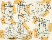 The Flintstones - Perry Gunnite - Model Sheet - 2 with Fred Flintstone