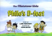 The Flintstone Kids - Episode Title Card Image - Philo's D-feat
