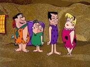The Return of Stony Curtis - Fred Flintstone, Stony Curtis, Mabel and Willie Rockendorf