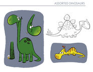 Yabba-Dabba Dinosaurs - Concept Art by Chris Battle - Assorted Dinosaurs - 2