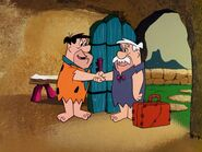 The Flintstones - The Story of Rocky's Raiders - Rockbottom and Fred Flintstone