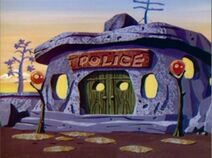 The New Fred and Barney Show - Bedrock Police Station from Barney's Chickens