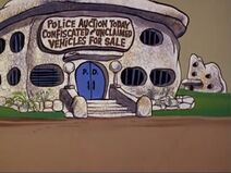 The Flintstones - Bedrock Police Station from Fred's Second Car