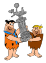 The Flintstones - Clipart - Fred and Barney with a Trophy