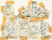 The Flintstones - Perry Gunnite and Pebble Bleach - Model Sheet - 1