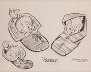 The Flintstones - Original Model Sheet - Pebbles Flintstone - 5