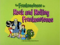 The Flintstone Comedy Show - Episode Title Card - Rock and Rolling Frankenstones