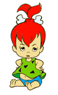 Pebbles Flintstone - Clipart - 8