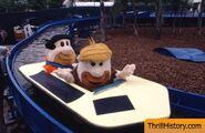 Fred Flintstone's Splashdown - Fred and Barney in a Boat
