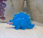 Stegosaurus Post Pebbles Toy