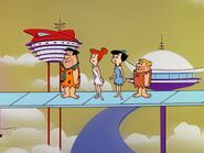 The Flintstones - The Long, Long, Long Weekend - Fred, Barney, Wilma and Betty in the Future