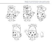 Yabba-Dabba Dinosaurs - Concept Art by Chris Battle - Fred Flintstone - 1