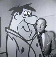 Alan Reed with Fred Flintstone