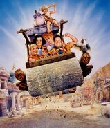 The Flintstones - 1994 Live Action Film - Textless Poster by Drew Struzan