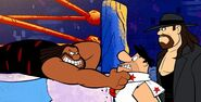 Stoneage Smackdown Daniel Bryan-Fred-Undertaker