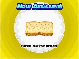 Unlocking three cheese bread