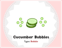 Cucumber Bubbles