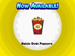 Raisins Duds Popcorn