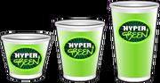 Tamaños de Hyper Green