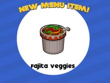 Fajitas de Vegetales agregadas