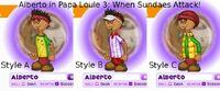 Alberto in Papa Louie 3- When Sundaes Attack!