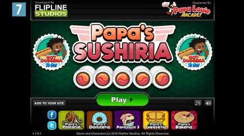 Papa's Sushiria Title Music