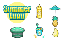 Summer Luau Ingredients - Cupcakeria HD