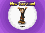 Tony unlocked in Papa's Pastaria