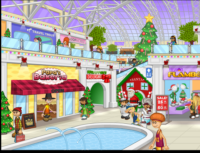 mall during christmas png