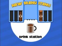 Unlocking drink station