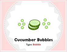 Cucumber Bubbles