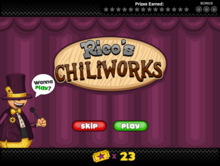 Rico's Chiliworks Title Card