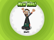 New Hire! Matt