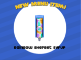 Rainbow Sherbet Syrup