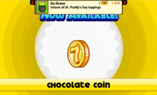 Unlocking chocolate coin