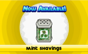 Unlocking mint shavings