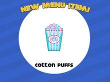 Unlocking cotton puffs