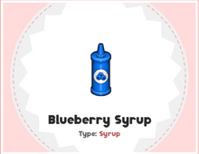 Blueberry Syrup PHD