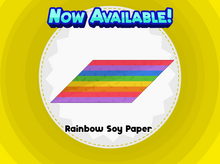 Rainbow Soy Paper