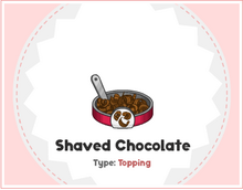 Shaved chocolate