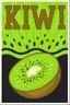 Kiwi Slices and Kiwi Bubbles Poster