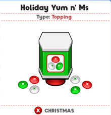 Holiday Yum n Ms (PTG)