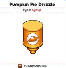 Pumpkin pie drizzle (PTG)