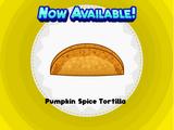 Pumpkin Spice Tortilla