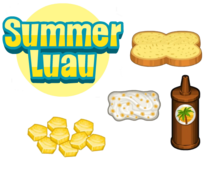Summer Luau Ingredients - Cheeseria
