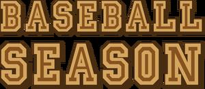 Baseball season logo