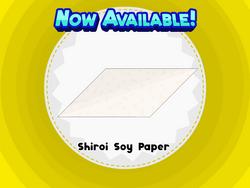 Shiroi Soy Paper