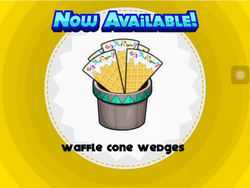Unlocking waffle cone wedges