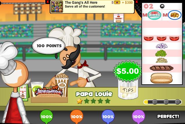 Papa Louie Perfecto