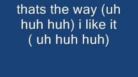 Thats the way i like it lyrics - KC and the Sunshine Band